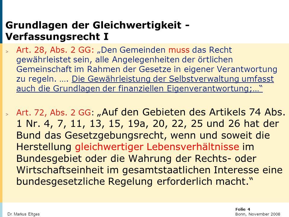 © BBR Bonn 2003 Folie 25 Bonn, November 2008 Dr. Markus Eltges