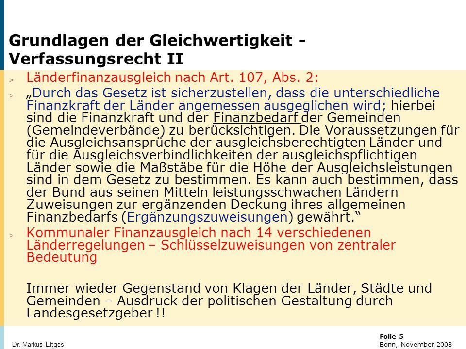 © BBR Bonn 2003 Folie 16 Bonn, November 2008 Dr. Markus Eltges