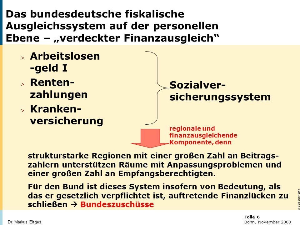 © BBR Bonn 2003 Folie 27 Bonn, November 2008 Dr.