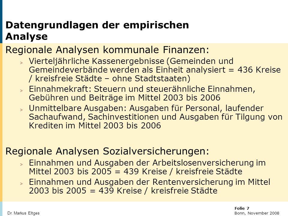 © BBR Bonn 2003 Folie 18 Bonn, November 2008 Dr.