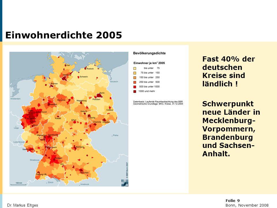 © BBR Bonn 2003 Folie 10 Bonn, November 2008 Dr.