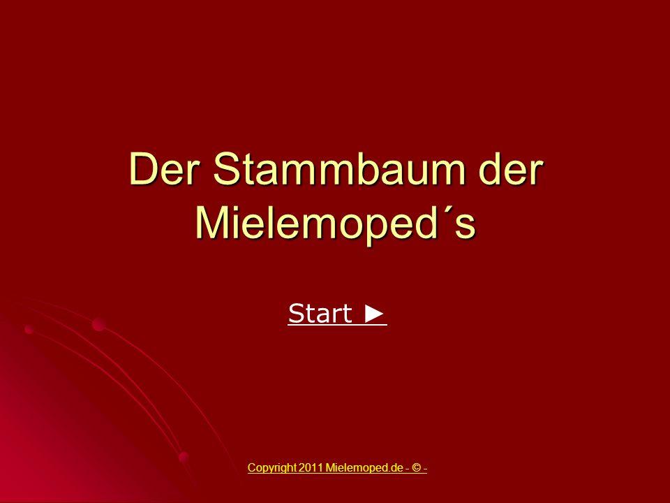 Der Stammbaum der Mielemoped´s Copyright 2011 Mielemoped.de - © - Start