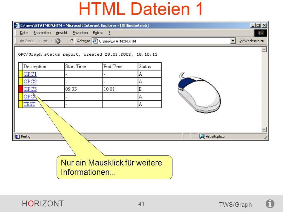HORIZONT 41 TWS/Graph HTML Dateien 1 Nur ein Mausklick für weitere Informationen...