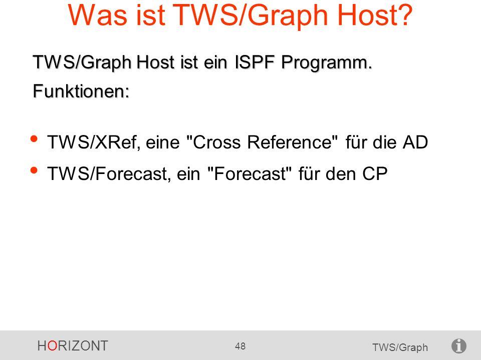 HORIZONT 48 TWS/Graph Was ist TWS/Graph Host? TWS/XRef, eine
