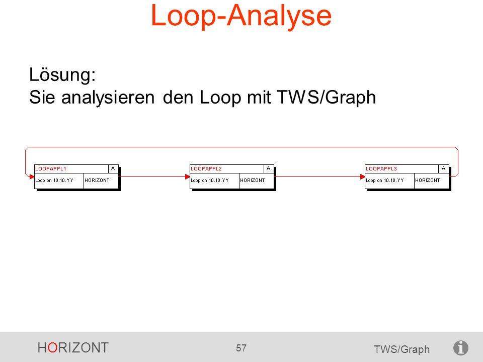 HORIZONT 57 TWS/Graph Loop-Analyse Lösung: Sie analysieren den Loop mit TWS/Graph