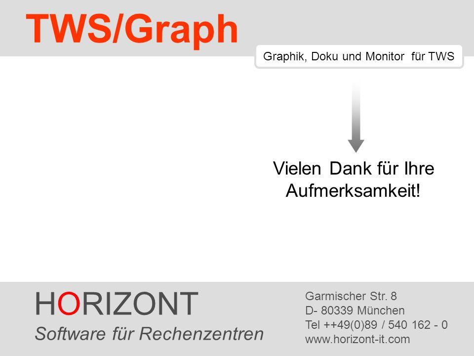 HORIZONT 60 TWS/Graph HORIZONT Software für Rechenzentren Garmischer Str. 8 D- 80339 München Tel ++49(0)89 / 540 162 - 0 www.horizont-it.com TWS/Graph