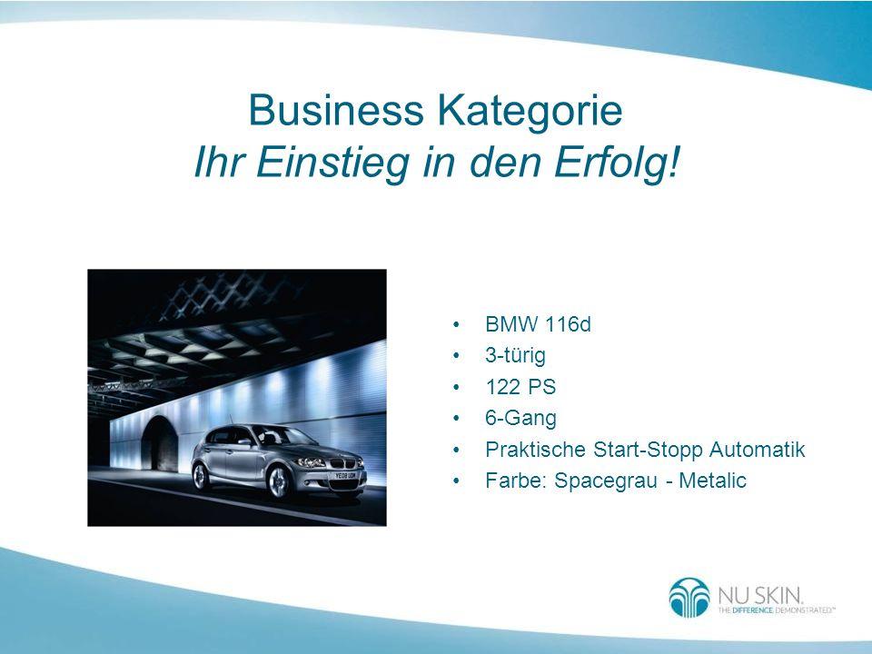 Business Kategorie Ihr Einstieg in den Erfolg! BMW 116d 3-türig 122 PS 6-Gang Praktische Start-Stopp Automatik Farbe: Spacegrau - Metalic