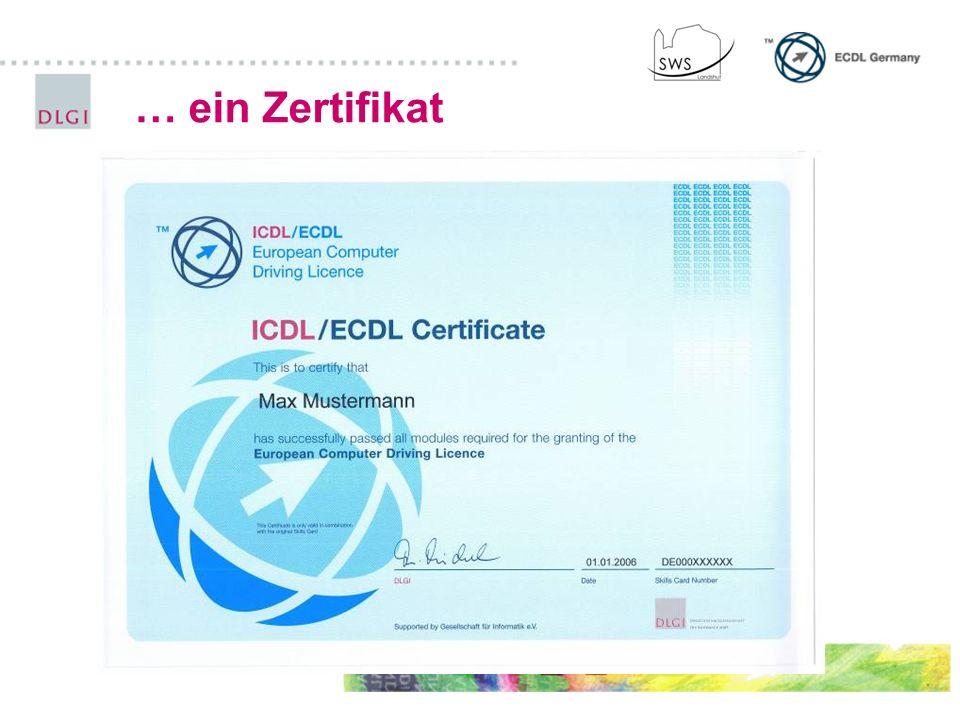… ein Zertifikat