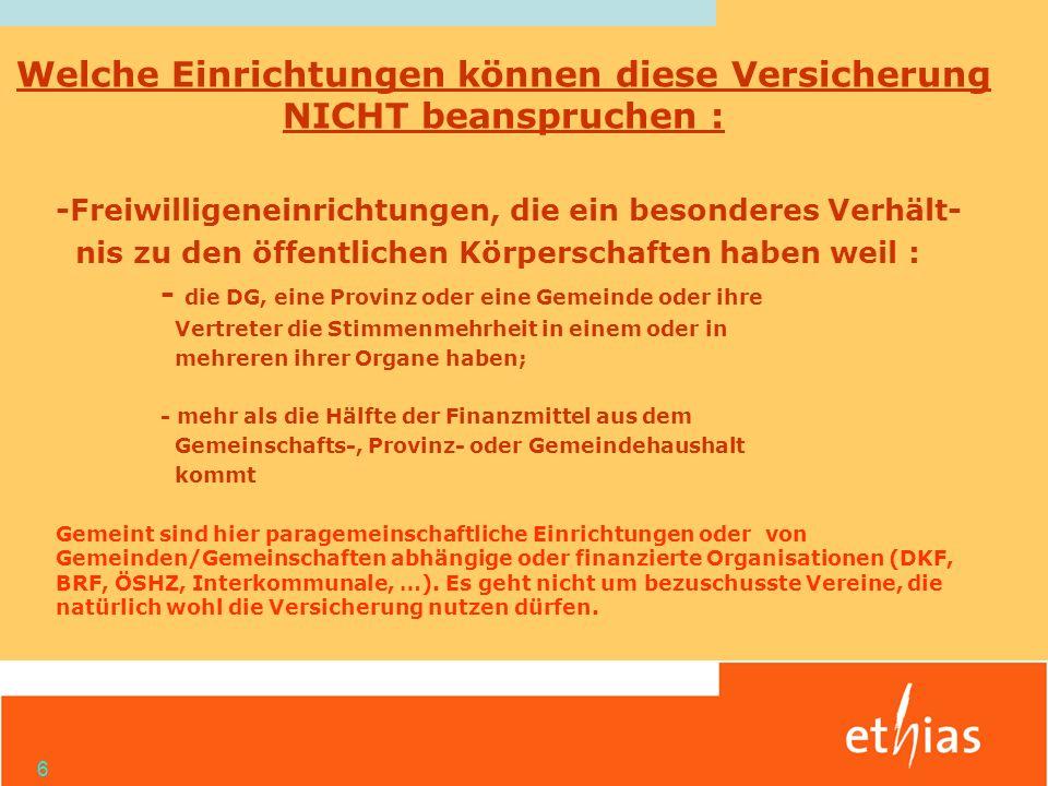 17 Allgemeine Ausschlüsse hinsichtlich Rechtsschutz und Haftpflicht Kraftfahrzeughaftpflicht !.