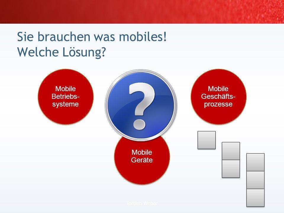Sie brauchen was mobiles! 3. Lösung:.NET Compact Framework 20 Torsten Weber | I Was ist Mobile Computing?
