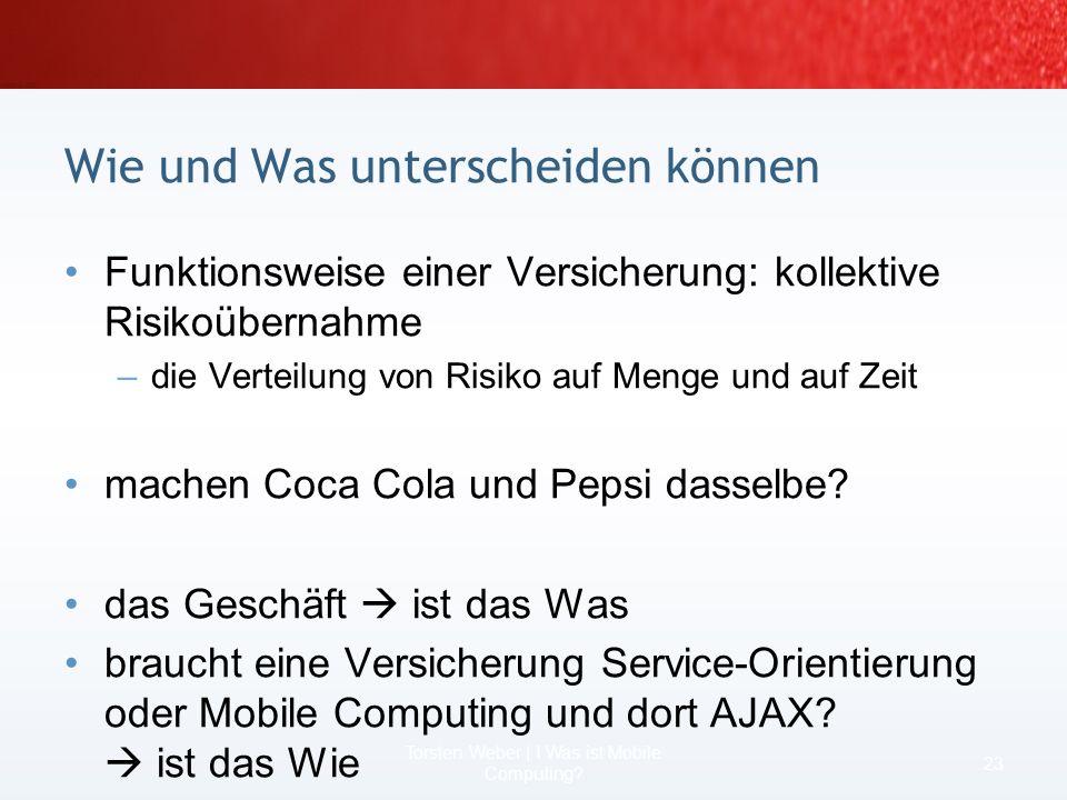 Sie brauchen was mobiles! 4. Lösung:.NET Compact Framework + XSLT 21 Torsten Weber | I Was ist Mobile Computing?