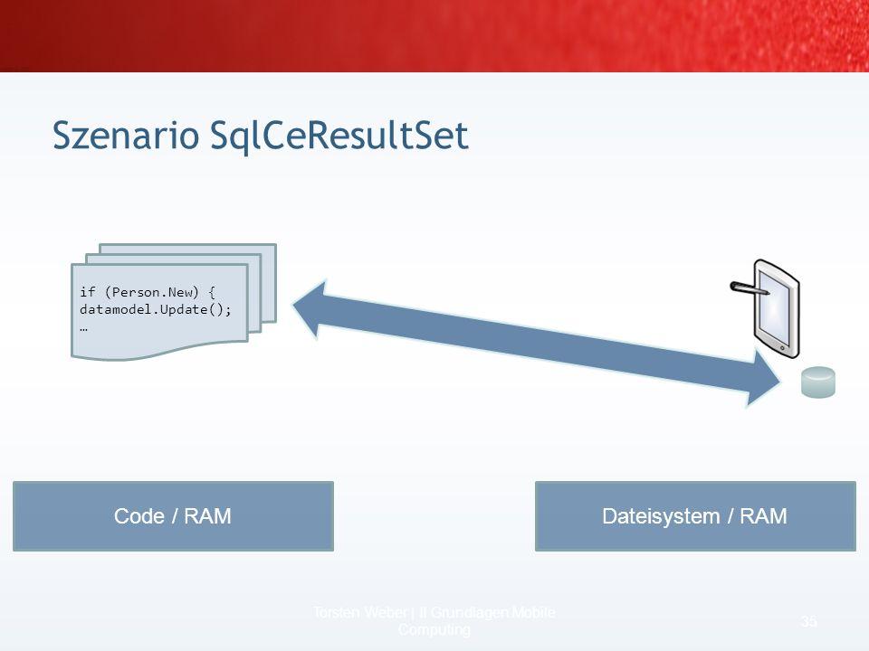 Multi-User-Support SqlCeResultSet (scrollable updateable Cursor) zusätzlich zu DataReader, DataSet, DataTable Named Parameters Auto-Compact Management
