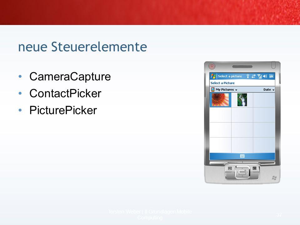 Szenario SqlCeResultSet 35 Torsten Weber | II Grundlagen Mobile Computing Code / RAMDateisystem / RAM if (Person.New) { datamodel.Update(); …