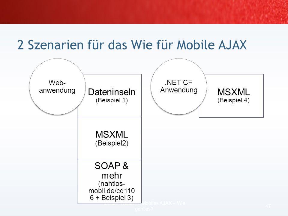 für den physischen Zugriff auf mobile Geräte bzw. Emulatoren: ActiveSync (XP) ab 4.1 bzw. Gerätecenter (Vista) optional –Geräteemulator 2 oder höher L