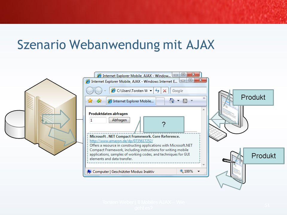 Was ist klar. Sie brauchen was mobiles! Wie?: Eine Webanwendung mit AJAX 49 Torsten Weber | II Mobiles AJAX – Wie geht es? Detailinformationen: Ihr Mo
