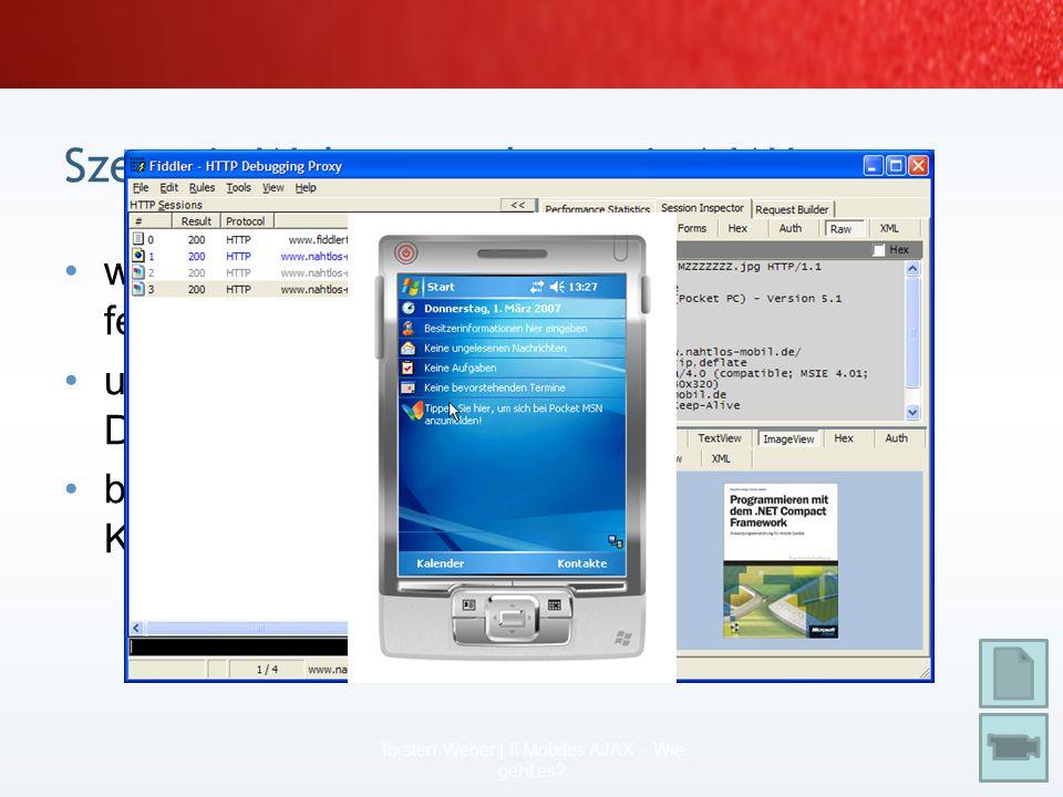 Produktdaten mobil abfragen notwendig: Produkt-ID soll verhindert werden: zusätzliches HTML- Drumherum (Overhead) Vorteil: Zwischenschritt eines Seite