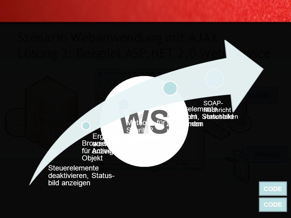 Beispiel für Windows Mobile 2003 / Windows Mobile 5 Kompatibilität: … Szenario Webanwendung mit AJAX Lösung 3: SOAP (oder was anderes) 63 Torsten Webe