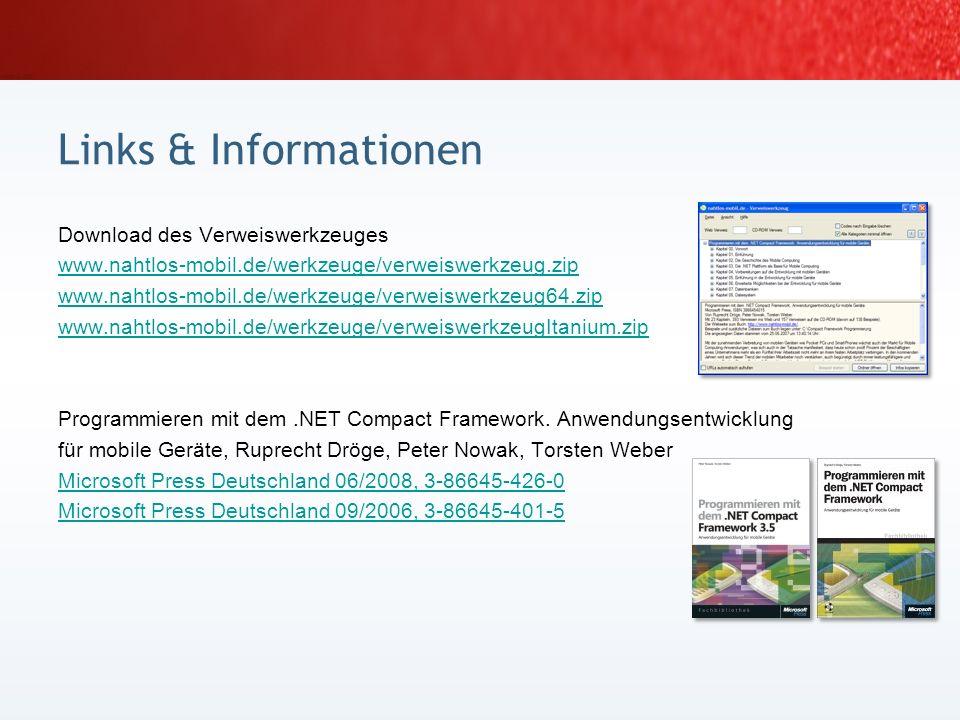 [1] Quelle Abbildungen: de.wikipedia.org/wiki/Legode.wikipedia.org/wiki/Lego [2] Smart Device Framework, www.opennetcf.orgwww.opennetcf.org [3] In the