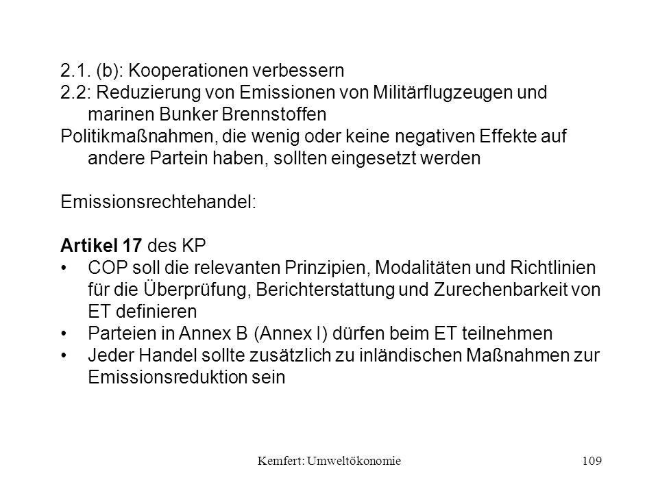 Kemfert: Umweltökonomie109 2.1.
