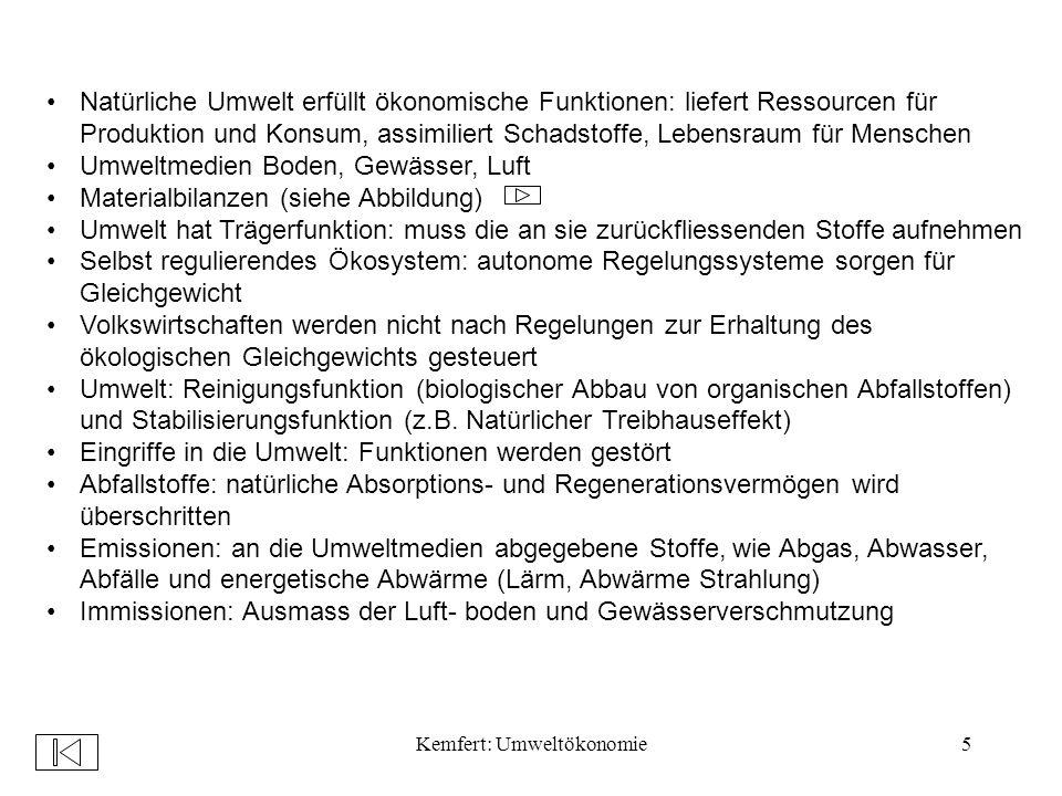 Kemfert: Umweltökonomie96 Schwierig, objektive Wahrscheinlichkeiten zu ermitteln: bei einmaligen Umweltschäden keine Vergangenheitsbewertung möglich z.B.