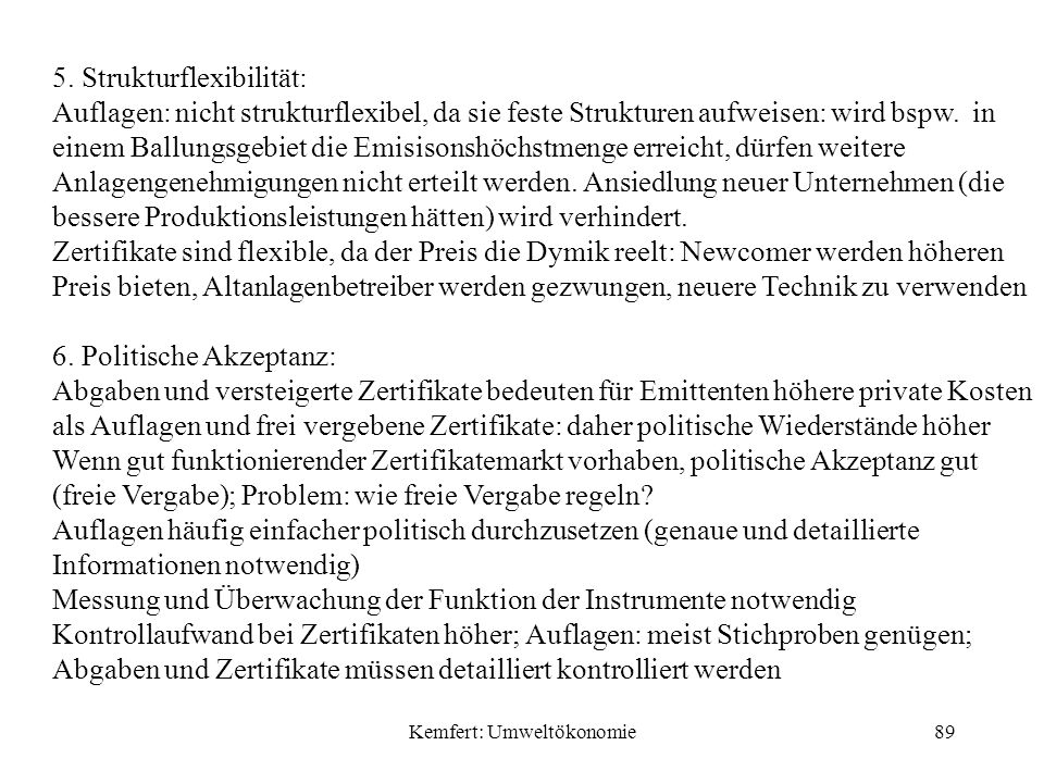 Kemfert: Umweltökonomie89 5.
