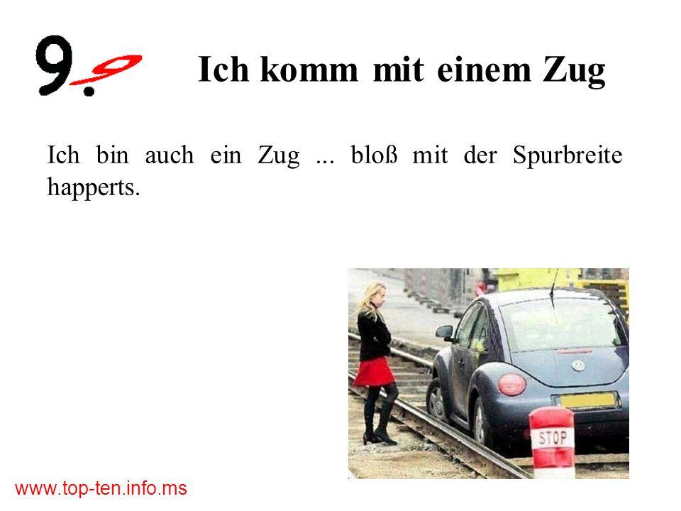 www.top-ten.info.ms Die Spiegelausrede Du Schatz – der Seitenspiegel ist kaputt.