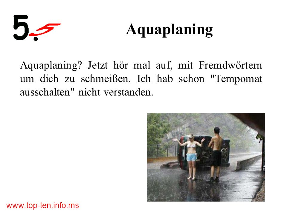 www.top-ten.info.ms Aquaplaning Aquaplaning.