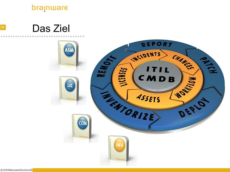 10 © 2005 Brainware Solutions AG(c) 2008 Brainware Solutions AG Das Ziel
