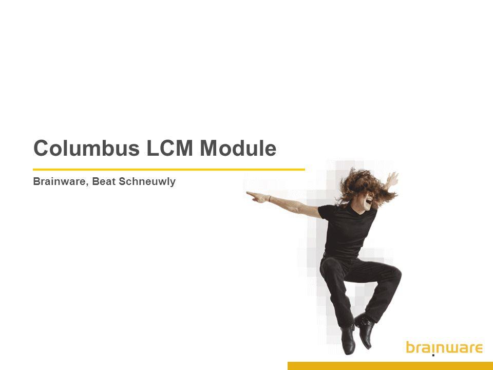 Columbus LCM Module Brainware, Beat Schneuwly