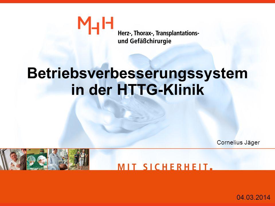 Betriebsverbesserungssystem in der HTTG-Klinik Cornelius Jäger 04.03.2014