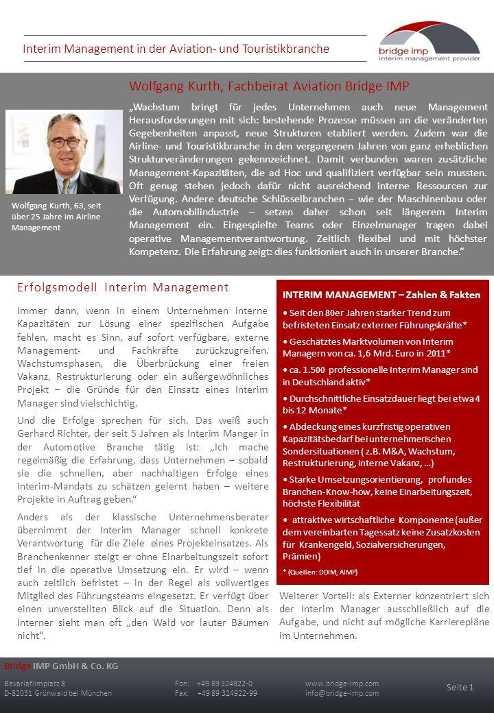 Bridge IMP GmbH & Co. KG Bavariafilmplatz 8Fon: +49 89 324922-0 www.bridge-imp.com D-82031 Grünwald bei MünchenFax: +49 89 324922-99 info@bridge-imp.c