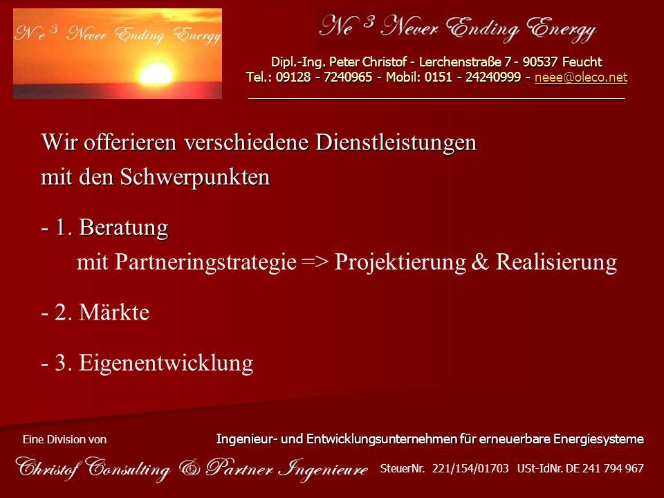 Dipl.-Ing. Peter Christof - Lerchenstraße 7 - 90537 Feucht Tel.: 09128 - 7240965 - Mobil: 0151 - 24240999 - neee@oleco.net ___________________________