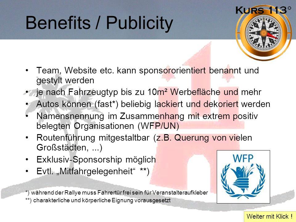 Benefits / Publicity Team, Website etc.