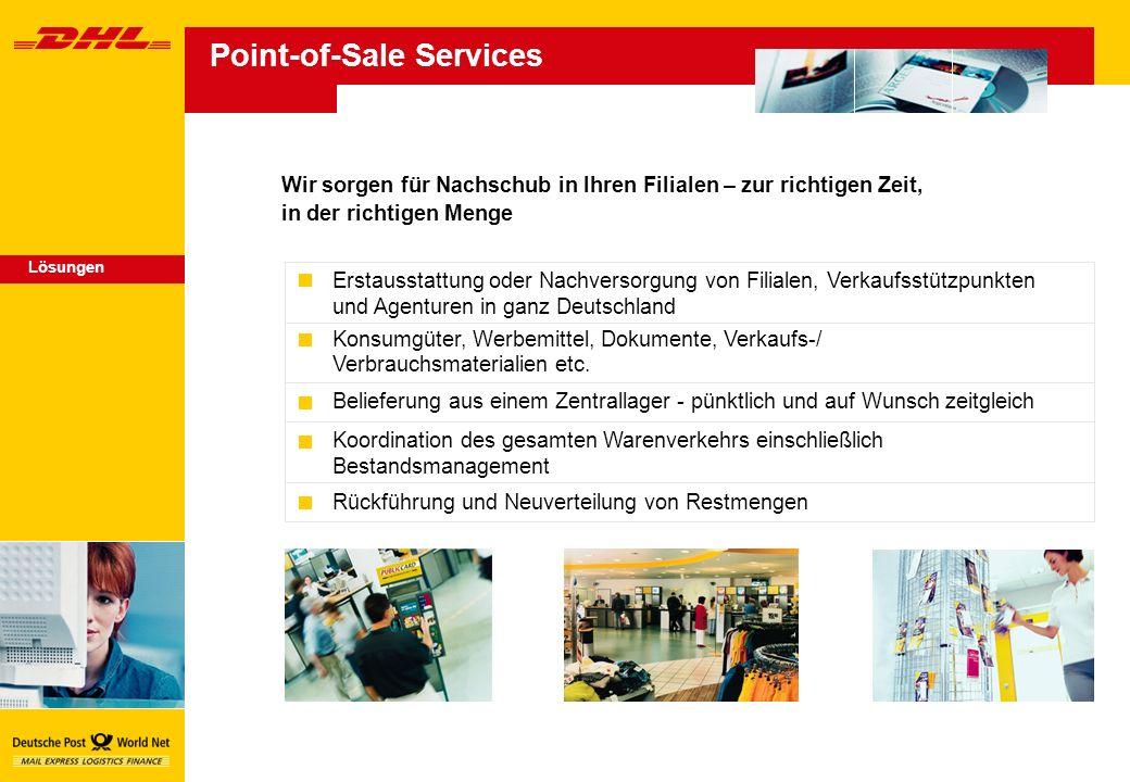 Erstausstattung oder Nachversorgung von Filialen, Verkaufsstützpunkten und Agenturen in ganz Deutschland Konsumgüter, Werbemittel, Dokumente, Verkaufs-/ Verbrauchsmaterialien etc.