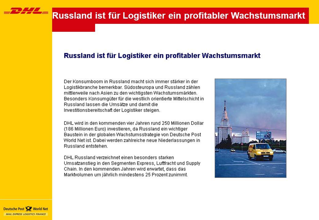 Russland ist für Logistiker ein profitabler Wachstumsmarkt