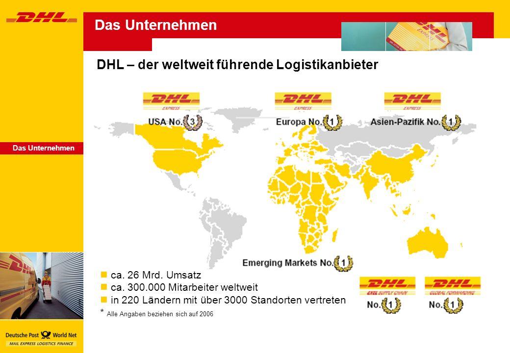 DHL – der weltweit führende Logistikanbieter ca.26 Mrd.