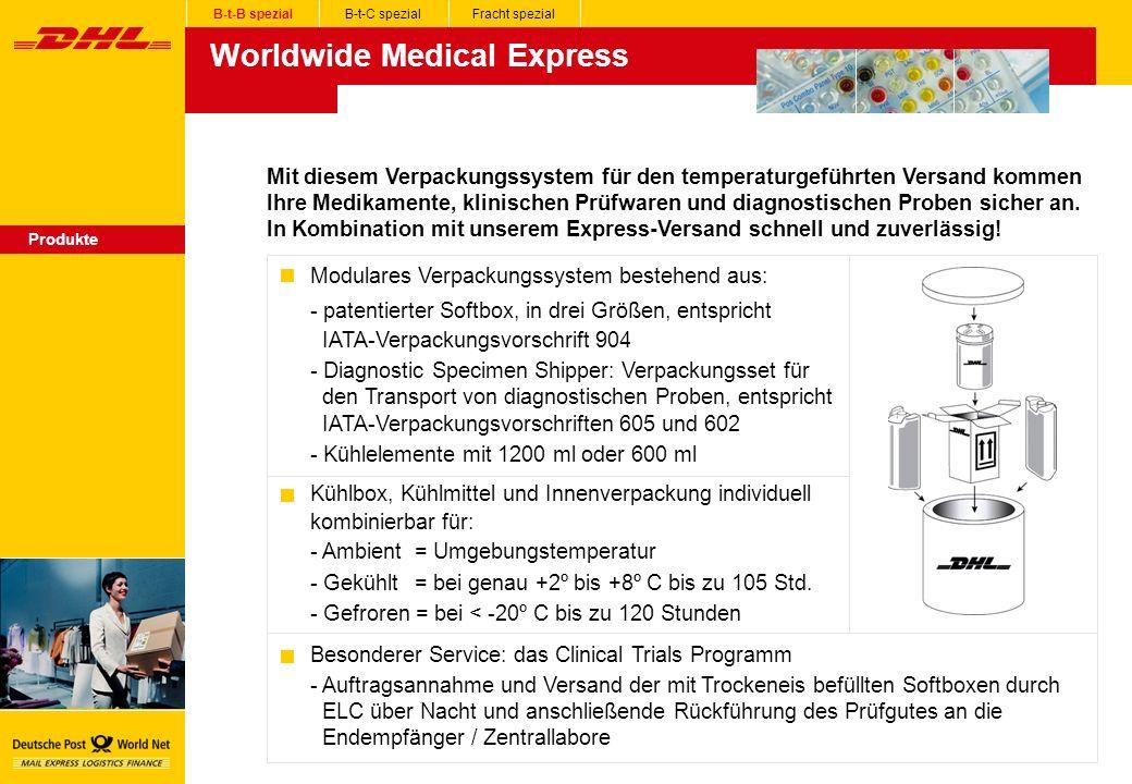 Worldwide Medical Express Produkte Mit diesem Verpackungssystem für den temperaturgeführten Versand kommen Ihre Medikamente, klinischen Prüfwaren und diagnostischen Proben sicher an.