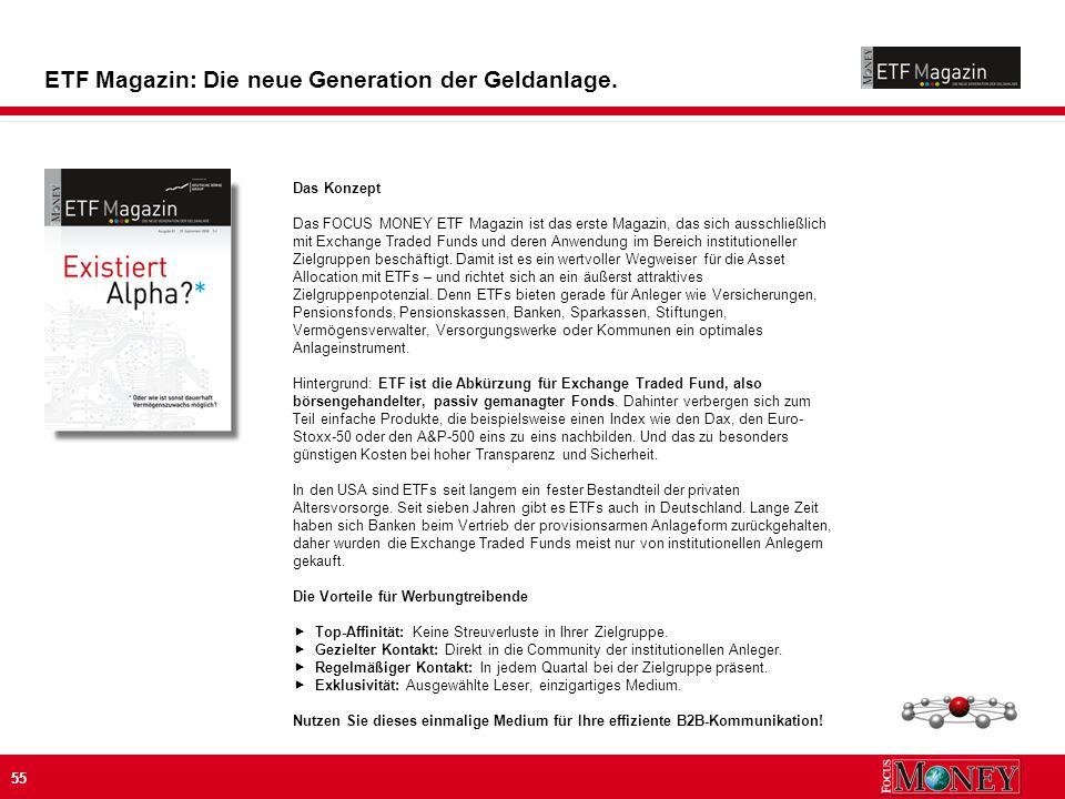 55 ETF Magazin: Die neue Generation der Geldanlage.