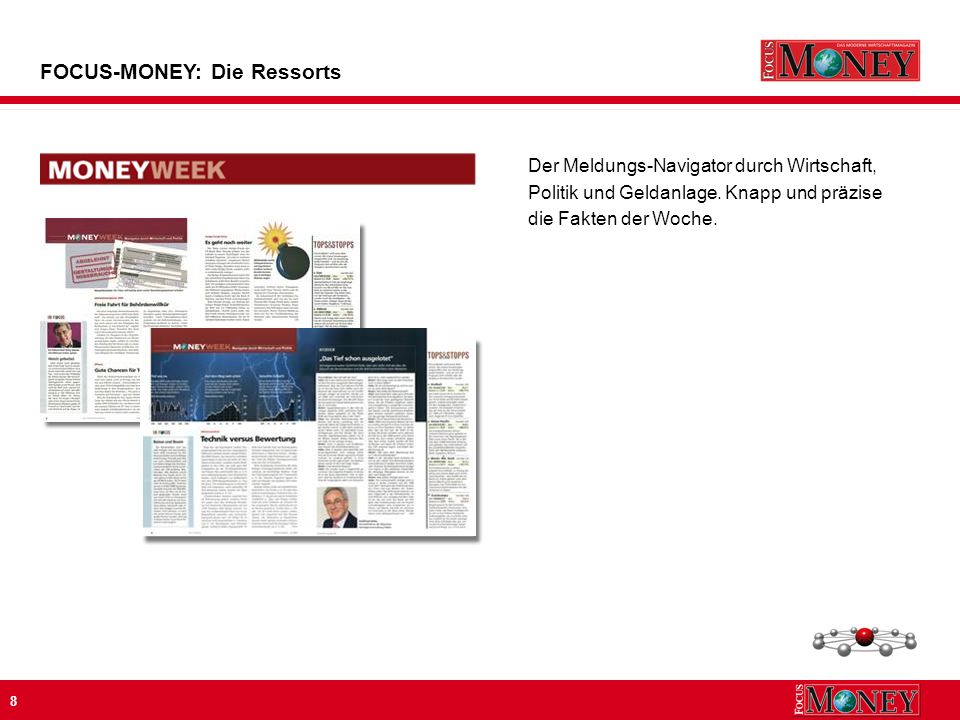 8 Der Meldungs-Navigator durch Wirtschaft, Politik und Geldanlage.