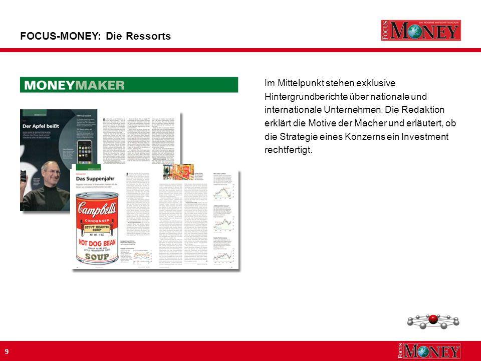 9 Im Mittelpunkt stehen exklusive Hintergrundberichte über nationale und internationale Unternehmen.