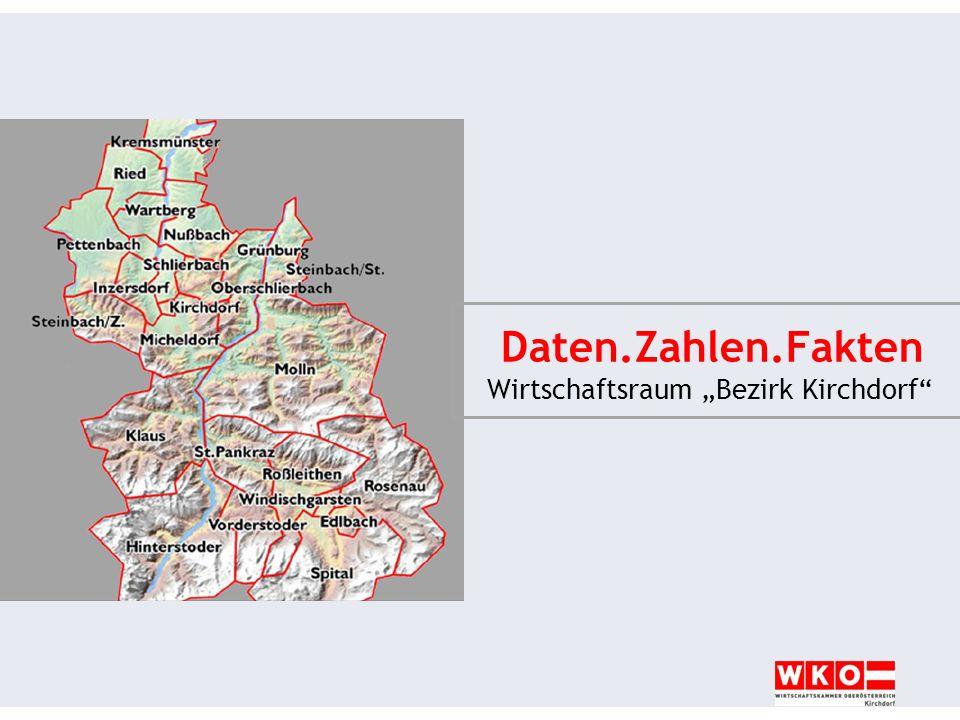 Wirtschaftsraum Bezirk Kirchdorf Daten.Zahlen.Fakten