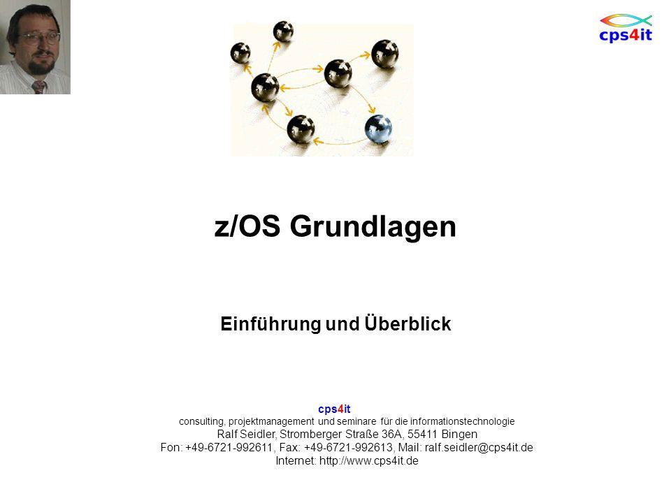 6. Oktober 2011Seite 112z/OS Grundlagen Notizen