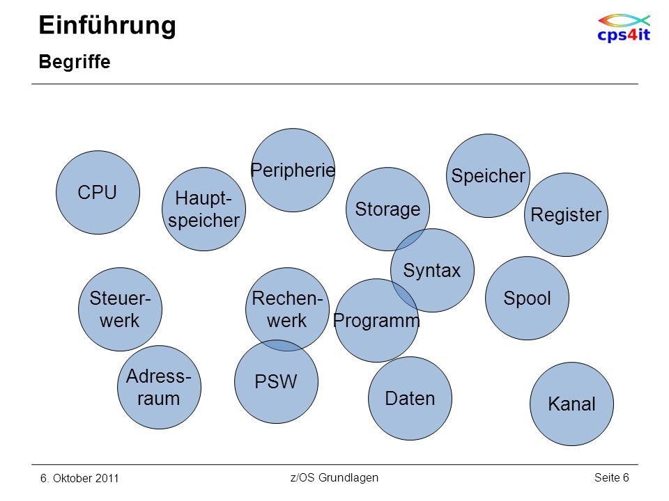 weitere Subsysteme und Features LPAR – Beispiel 6. Oktober 2011Seite 197z/OS Grundlagen