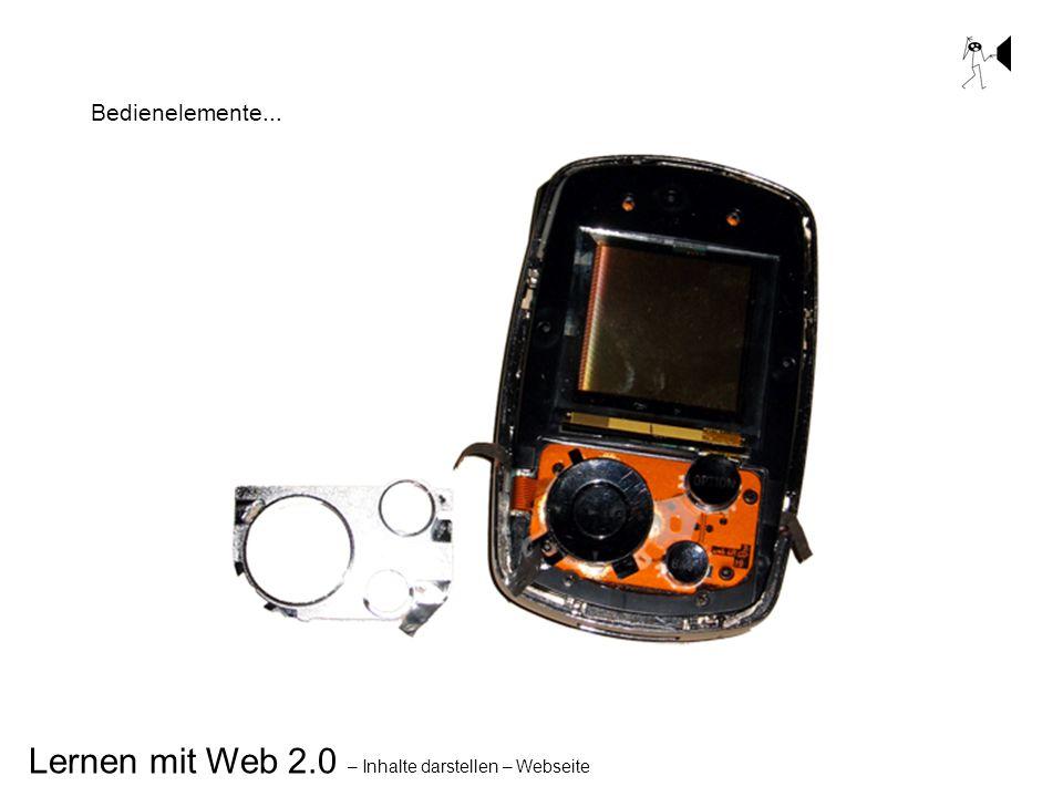 Lernen mit Web 2.0 – Inhalte darstellen – Webseite Bedienelemente...