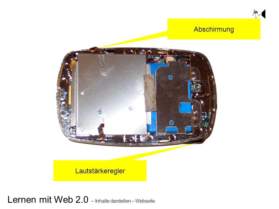 Lernen mit Web 2.0 – Inhalte darstellen – Webseite Lautstärkeregler Abschirmung
