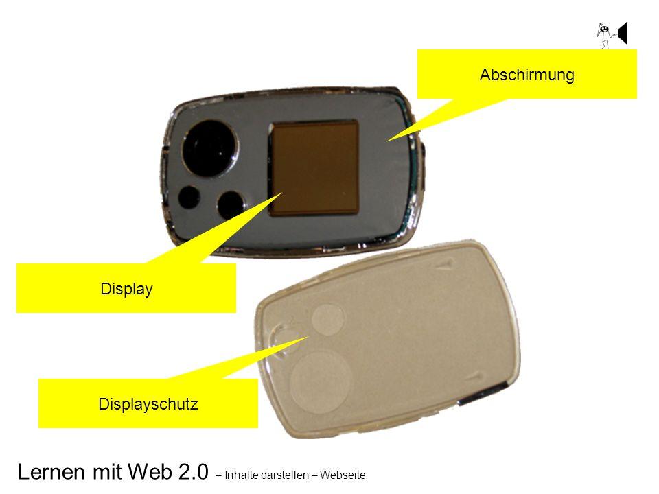 Lernen mit Web 2.0 – Inhalte darstellen – Webseite Display Abschirmung Displayschutz
