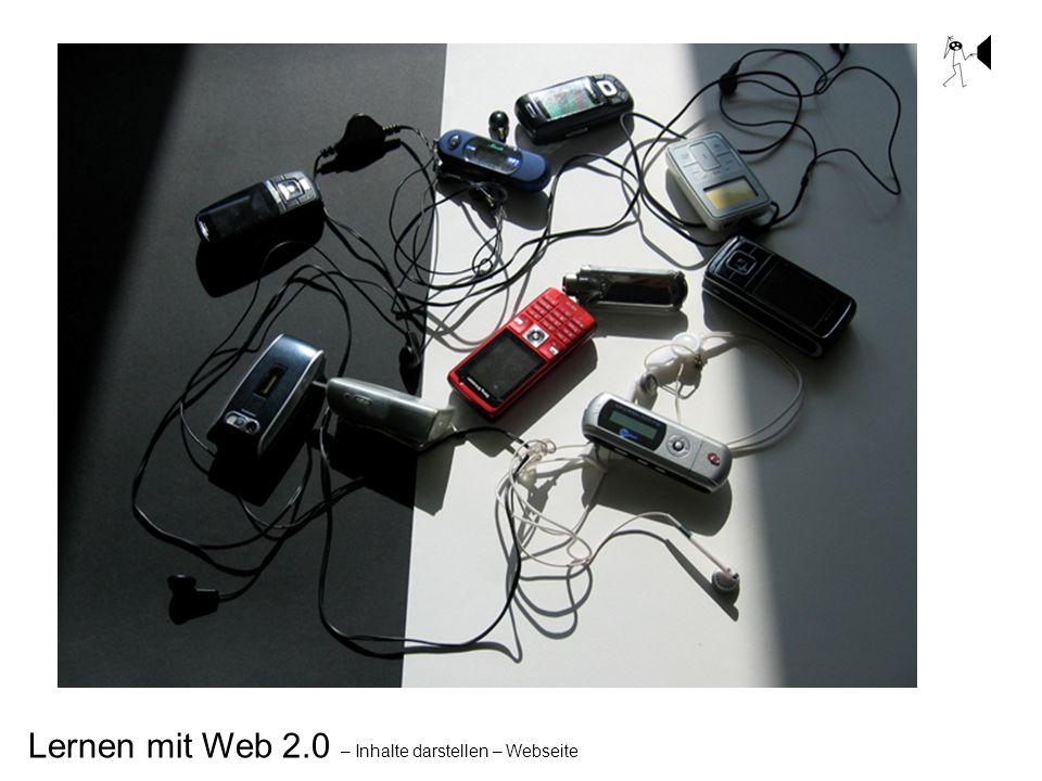Lernen mit Web 2.0 – Inhalte darstellen – Webseite