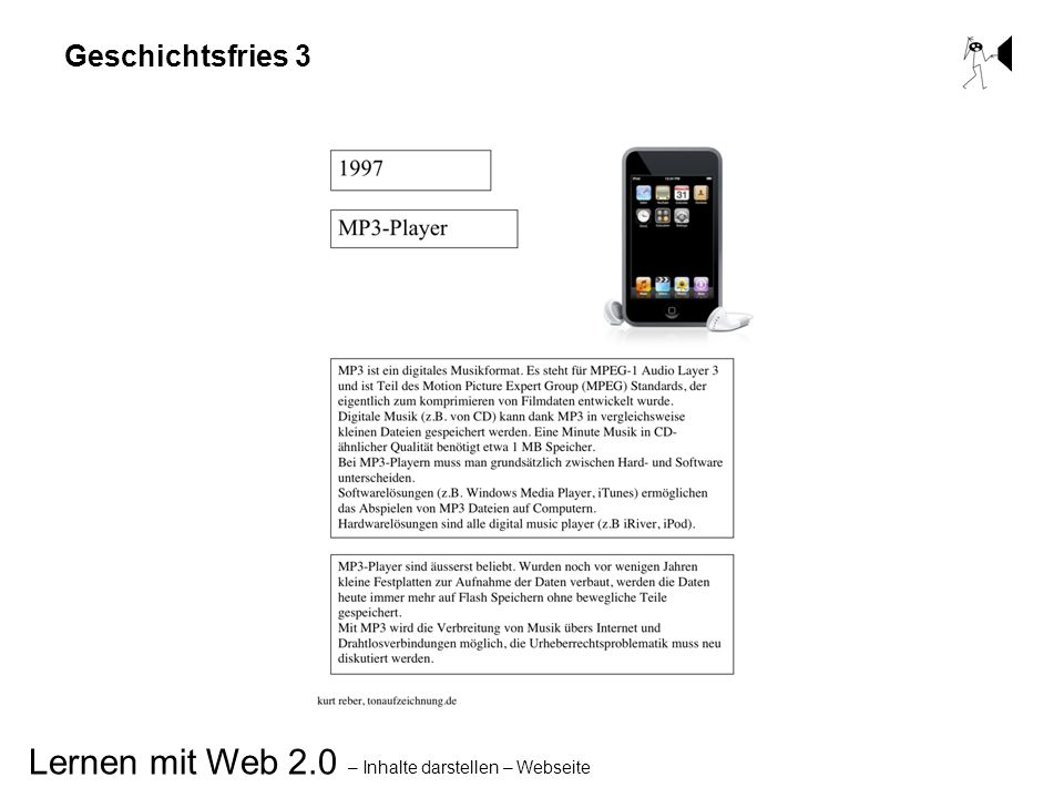 Lernen mit Web 2.0 – Inhalte darstellen – Webseite Geschichtsfries 3