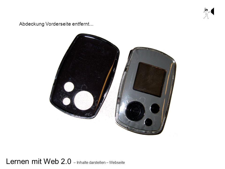 Lernen mit Web 2.0 – Inhalte darstellen – Webseite Abdeckung Vorderseite entfernt...