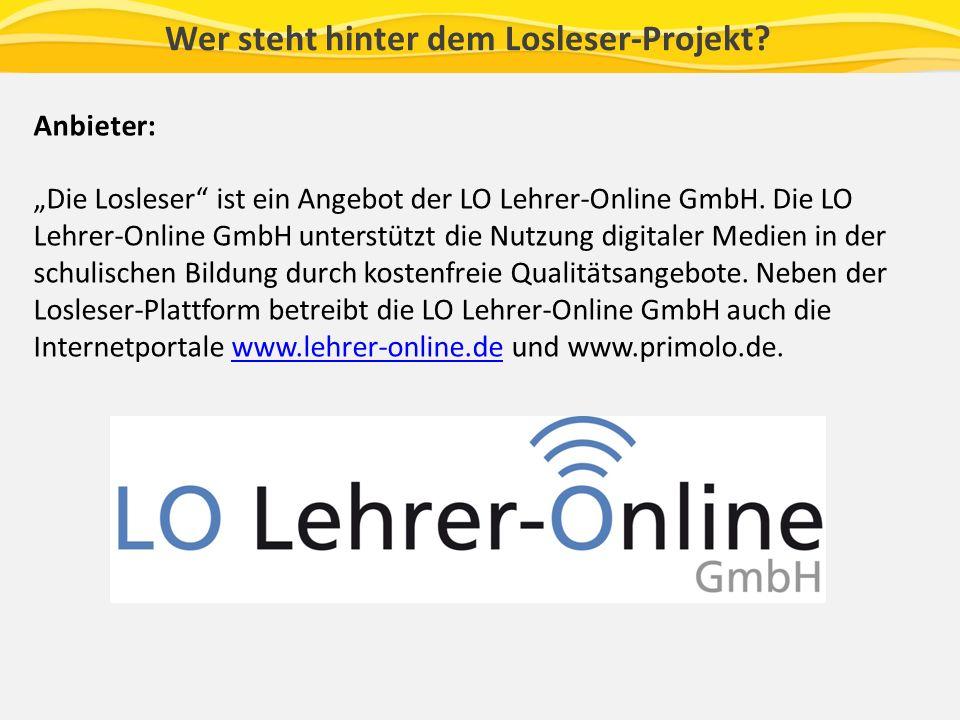 Anbieter: Die Losleser ist ein Angebot der LO Lehrer-Online GmbH.